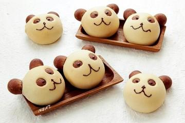 Cách làm bánh mì hình gấu panda