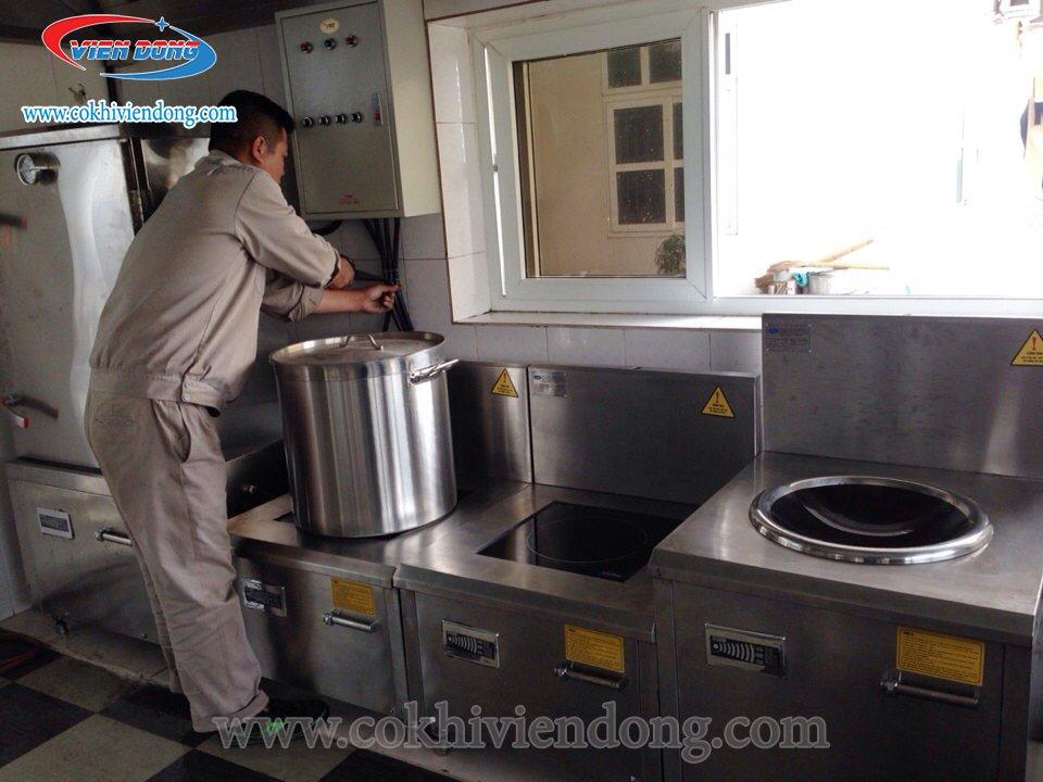lắp bếp điện từ công nghiệp