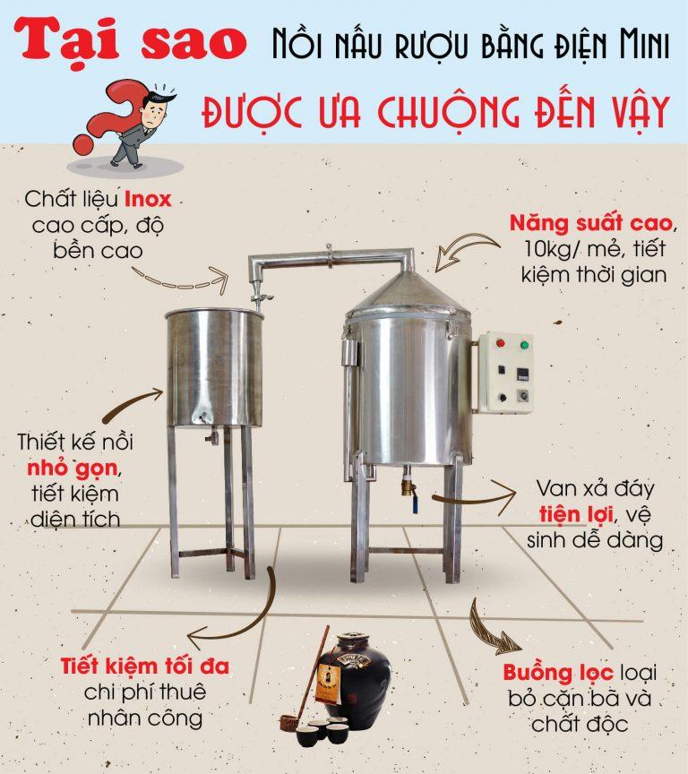 dây chuyền sản xuất rượu gạo